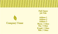 Yellow and Green Striped Business Card Template